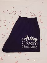 Name, Role & Date Wedding Boxer Shorts